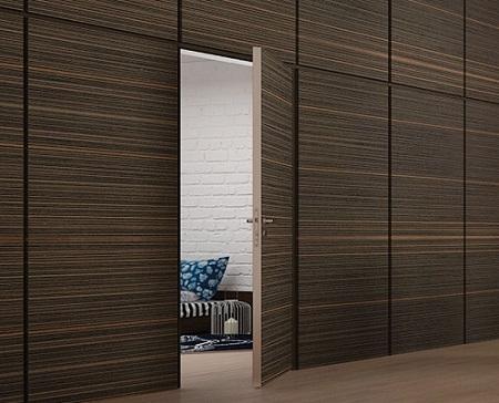 Скрытые межкомнатные двери: варианты и характеристики