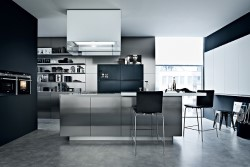 Как оформить кухню в стиле техно: основные характеристики и советы по выбору мебели