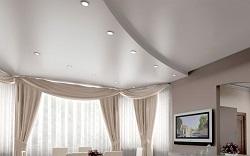 Преимущества сатинового потолка и особенности его монтажа